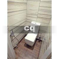 2015 частные интерьеры: фото дизайна туалетной комнаты в квартире в современном стиле 108м2