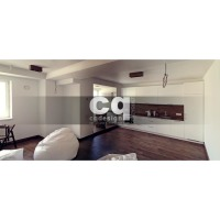 2015 частные интерьеры: фото дизайна кухни-столовой в квартире в современном стиле 108м2