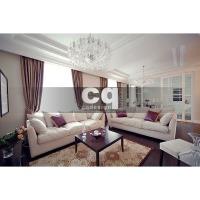 2014 частные интерьеры: фото дизайна гостиной-кухни-столовой в квартире в классическом стиле 102м