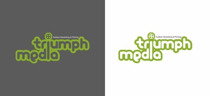 Разработка логотипа  TRIUMPH MEDIA с изображением клевера фото f_507093e17650b.jpg