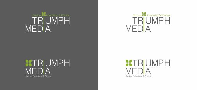 Разработка логотипа  TRIUMPH MEDIA с изображением клевера фото f_507093e5a4431.jpg
