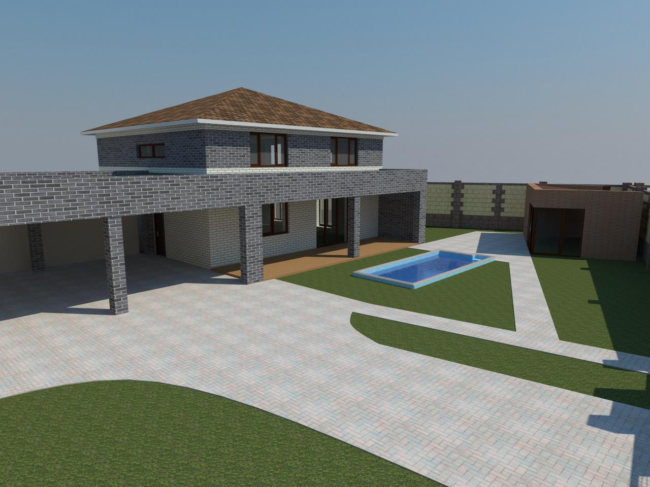 House project in Novomoskovsk
