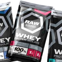 Концепция дизайна серийной упаковки спортивного питания RAW