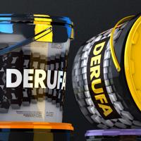 Концепция дизайна упаковки красок и шпатлевки DERUFA (new packshot)