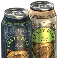 Концепция дизайна упаковки пива Crazy Bear