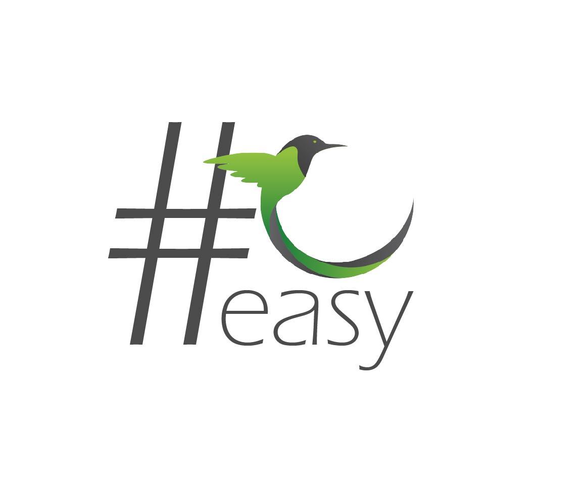 Разработка логотипа в виде хэштега #easy с зеленой колибри  фото f_0125d4eaa99cd4e8.jpg