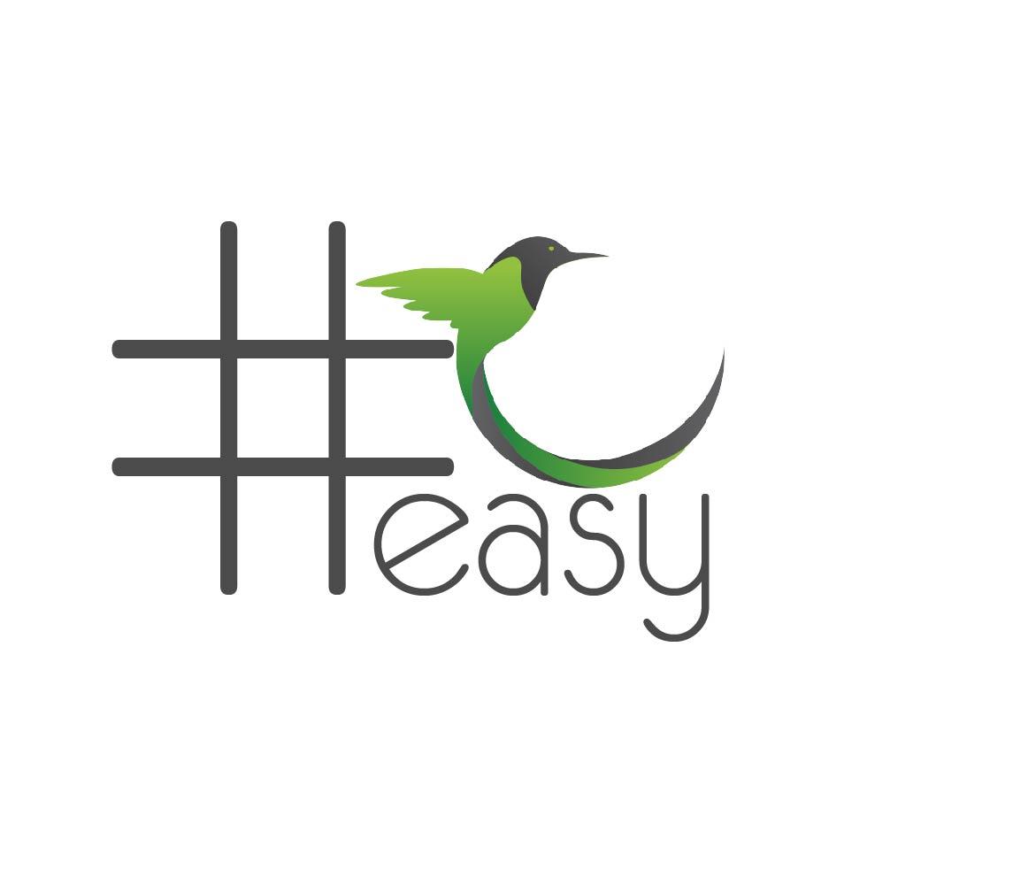 Разработка логотипа в виде хэштега #easy с зеленой колибри  фото f_6765d4eaa8913a64.jpg
