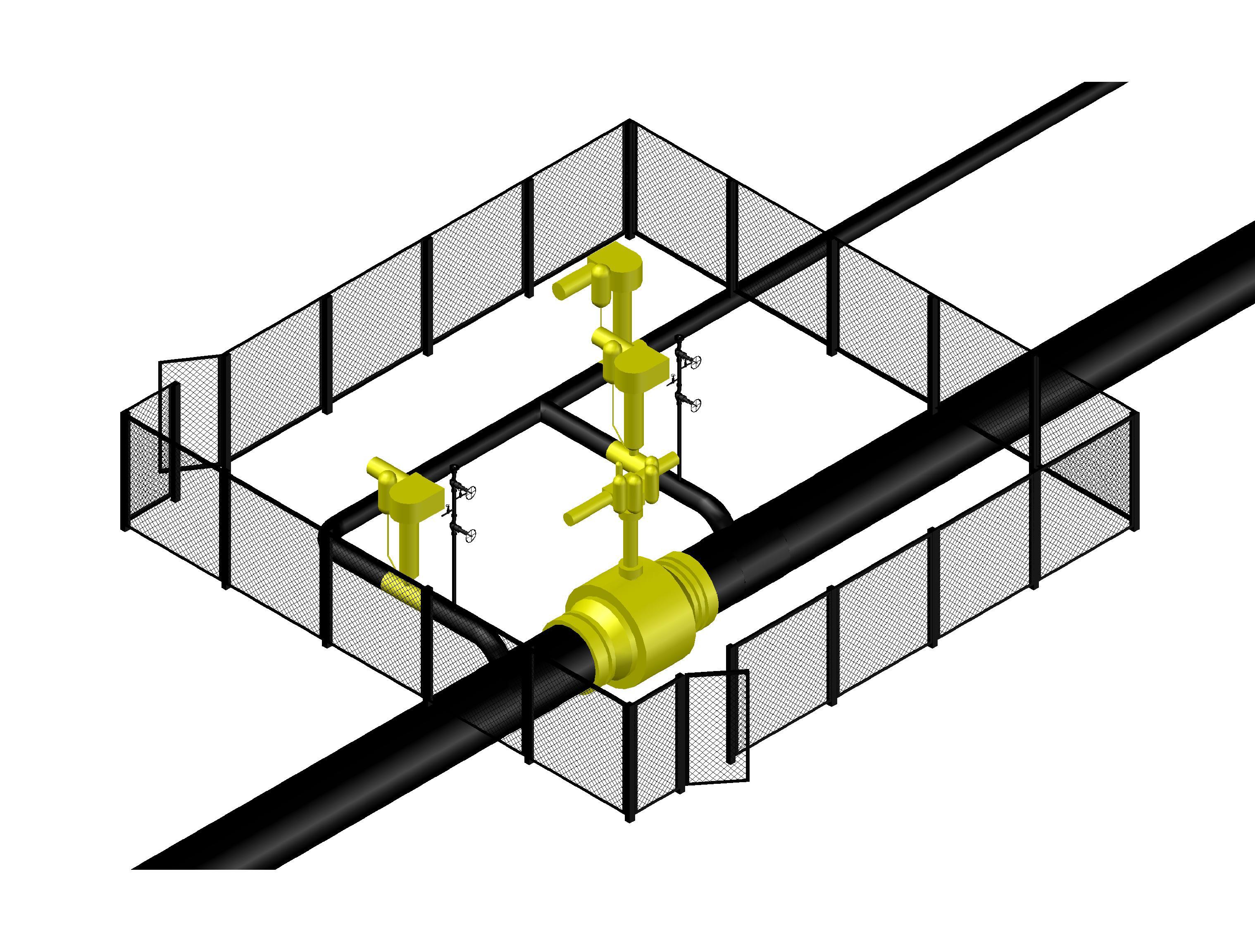 Линейный крановый узел Ду 1020