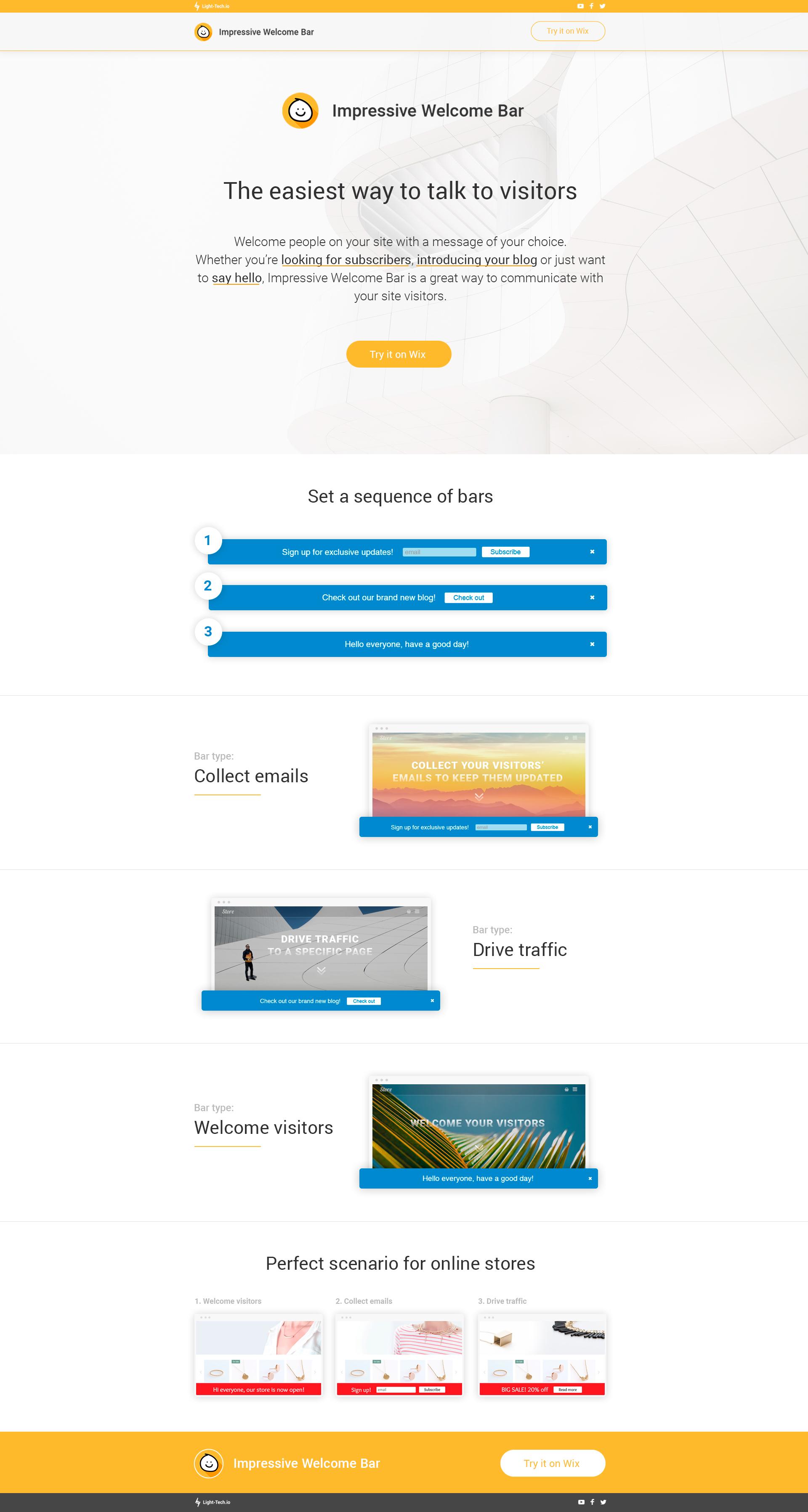 Landing Page для Wix приложения