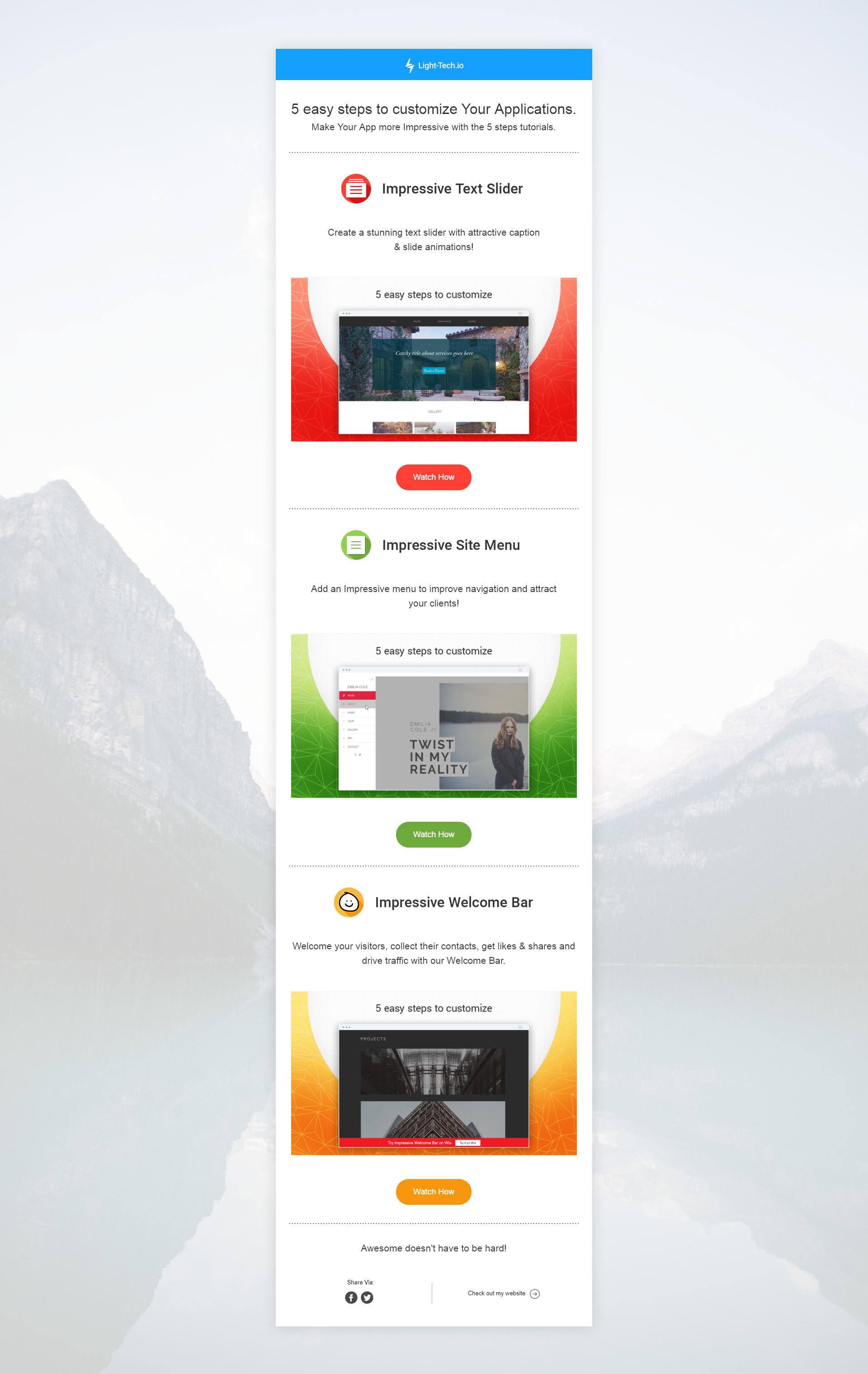 Дизайн Email рассылки