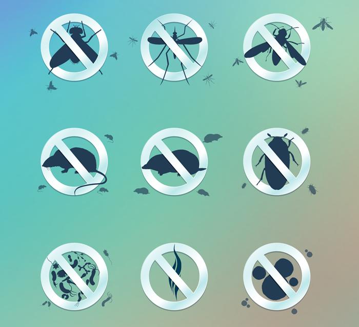 Иконки для сайта по уничтожению насекомых и вредителей