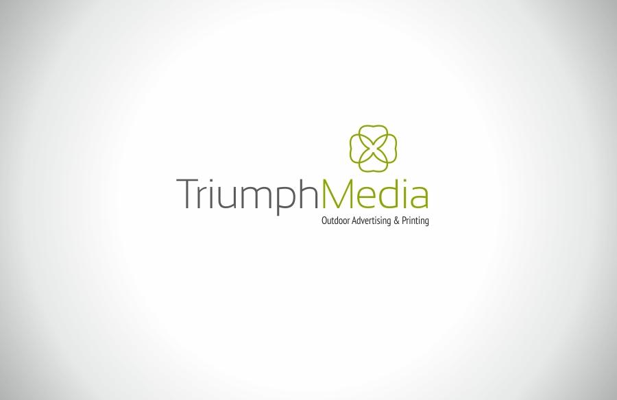 Разработка логотипа  TRIUMPH MEDIA с изображением клевера фото f_506f3d64dabaa.jpg