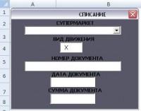 VBA для работы с актами списания и хранилищем данных Access