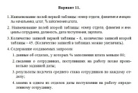 <ul><li>СОЗДАНИЕ И ОБРАБОТКА БАЗ ДАННЫХ &quot;Вариант 11&quot;</li></ul>