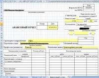 VBA Для автоматизации заполнения формы Авансового отчета для сотрудника