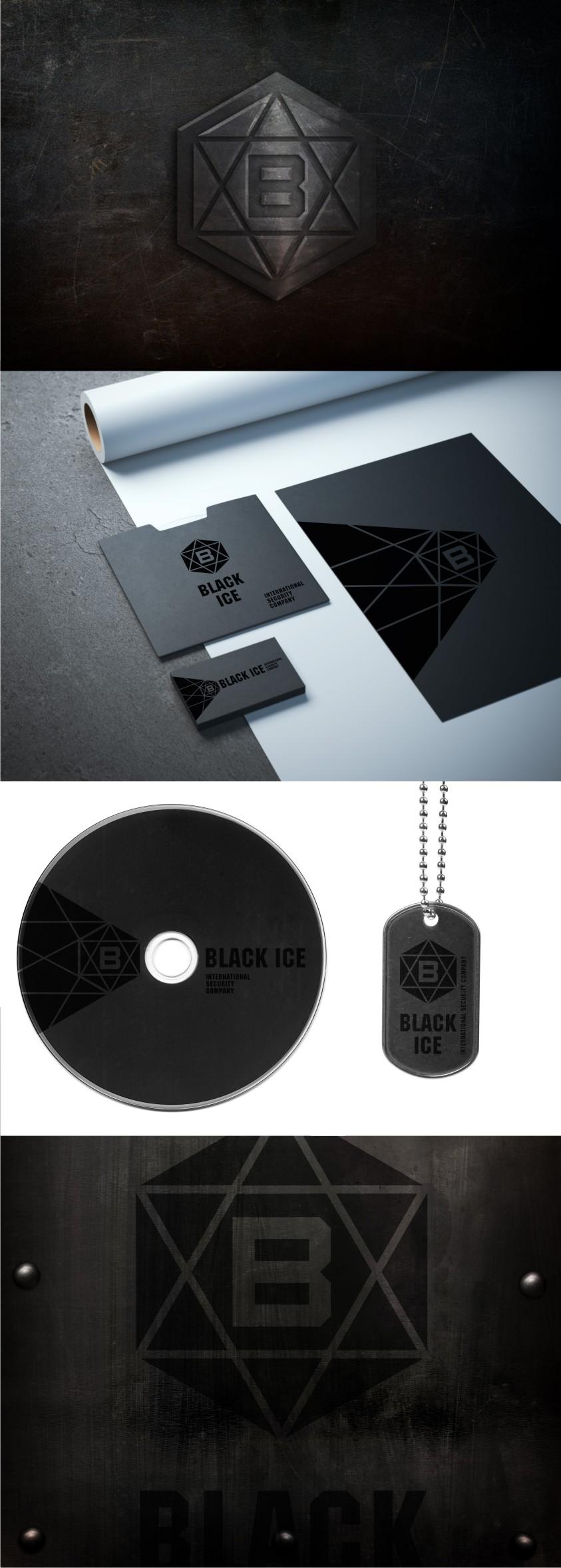 """Логотип + Фирменный стиль для компании """"BLACK ICE"""" фото f_50956e454f792f8b.jpg"""
