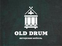 Логотип авторской мебели в виде старых барабанов