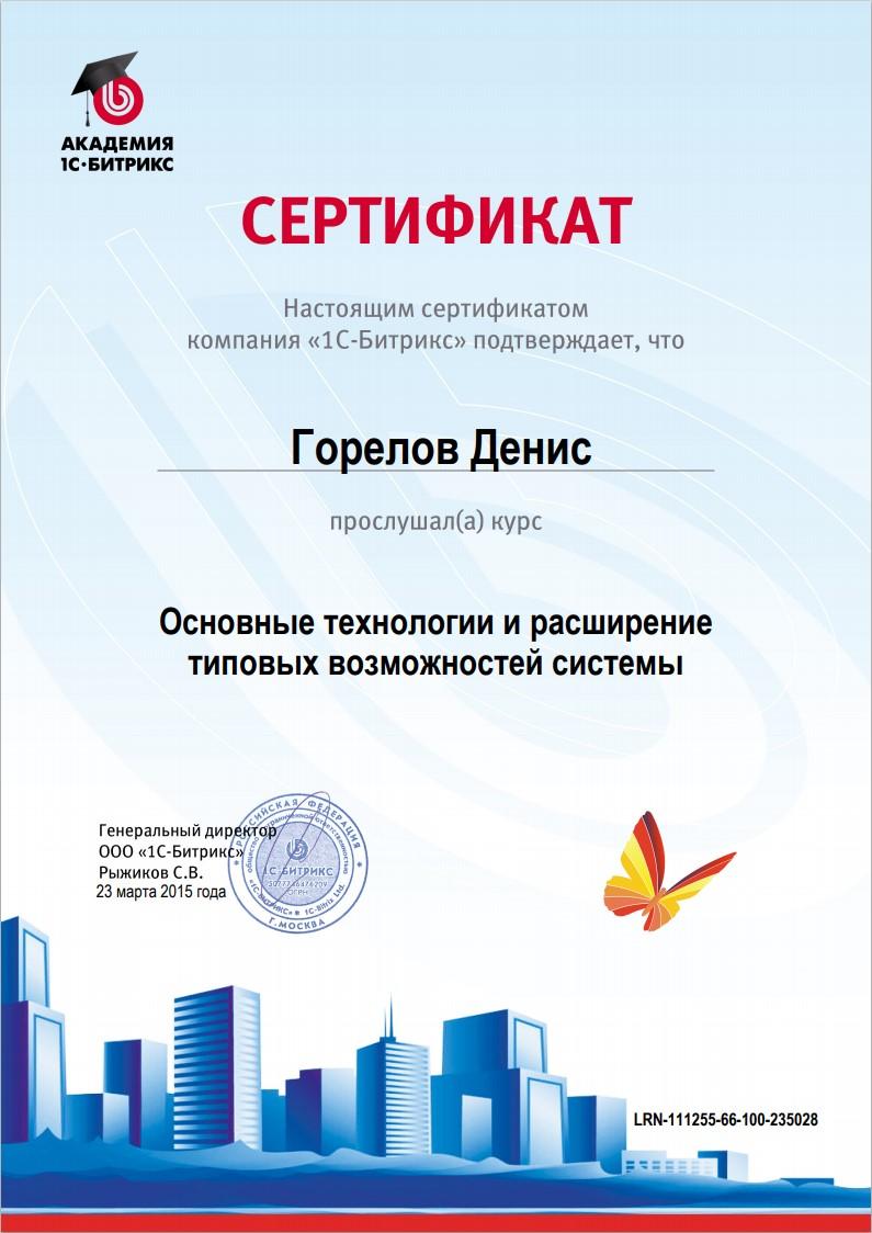 №2 - Основные технологии и расширение типовых возможностей системы