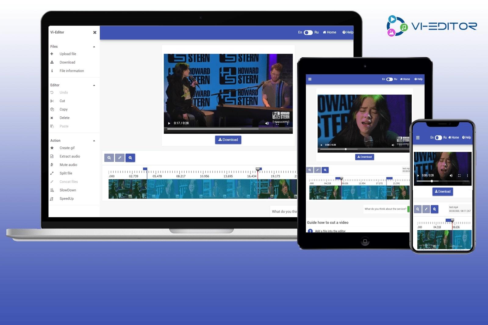 Онлайн сервис для монтажа видео и аудио файлов