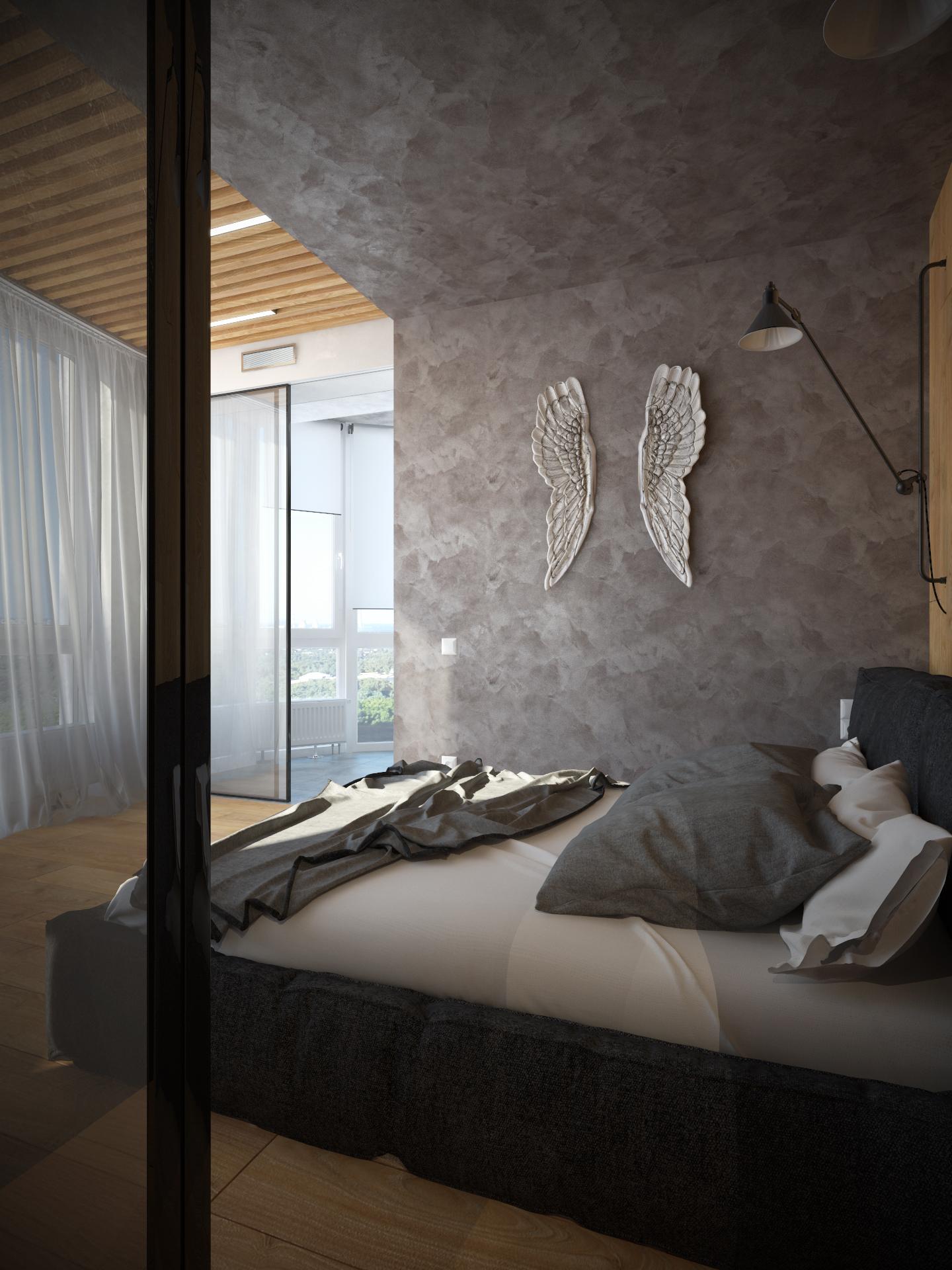 Интерьер квартиры в г. Киев. Мастер спальня