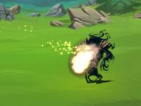 Анимация взрыва фаербола