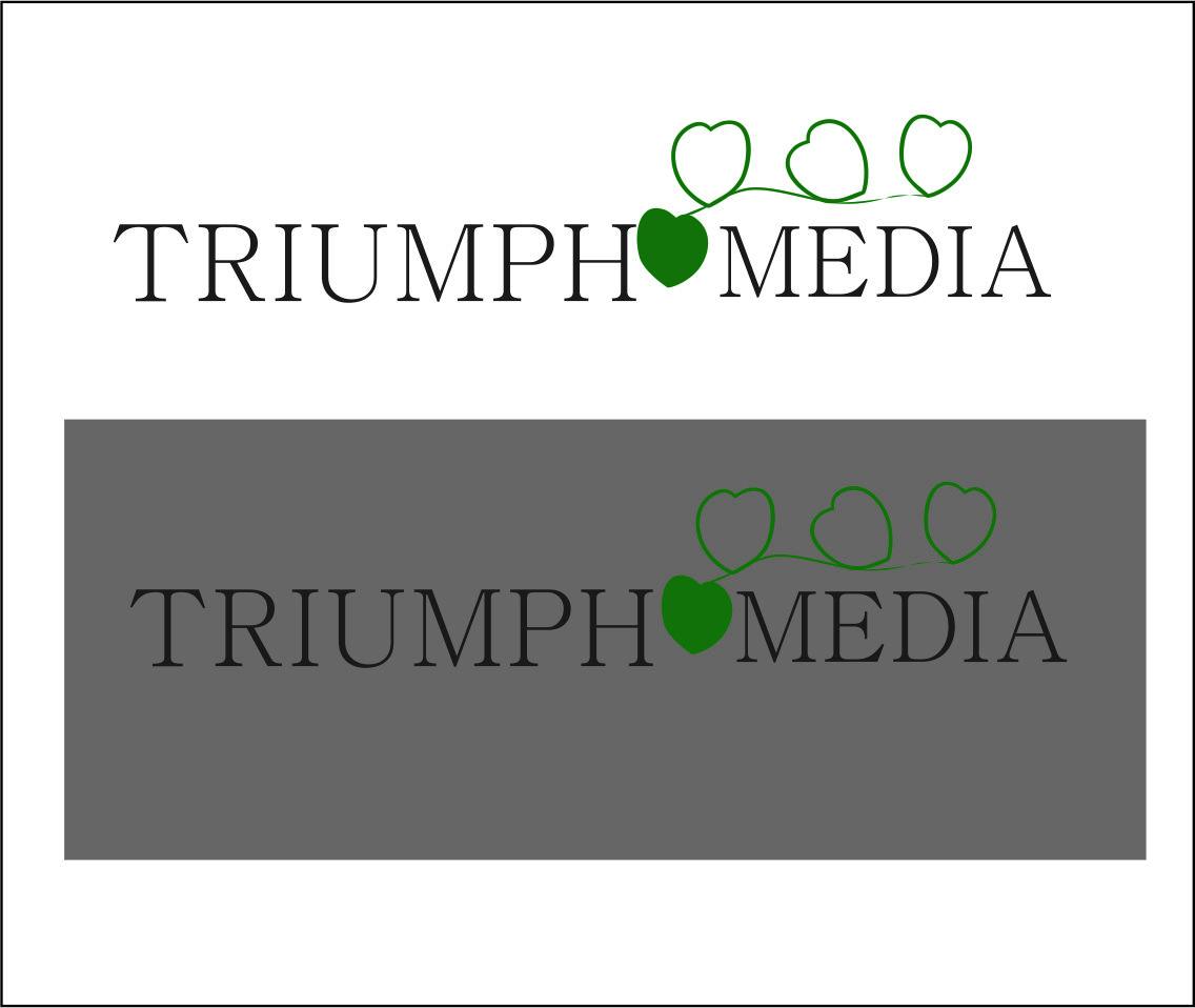 Разработка логотипа  TRIUMPH MEDIA с изображением клевера фото f_5073000411df7.jpg
