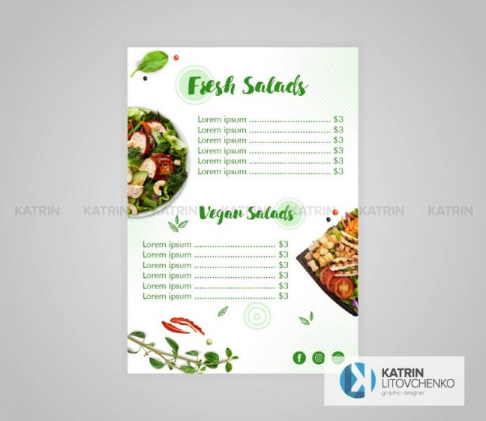 Меню Fresh Salad