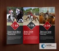 Буклет приглашение на конное соревание