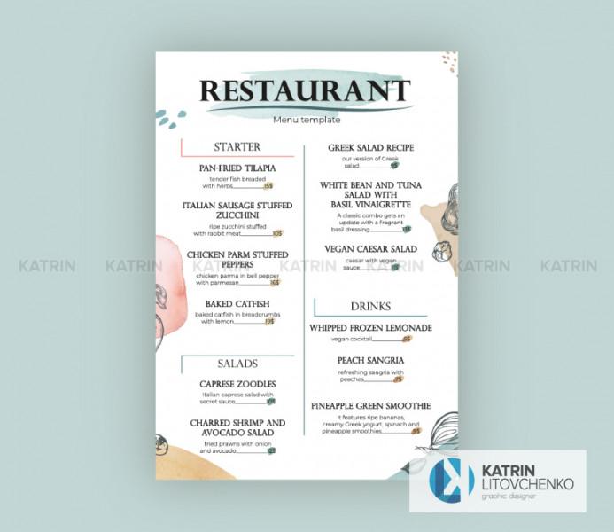 Меню ресторан 3