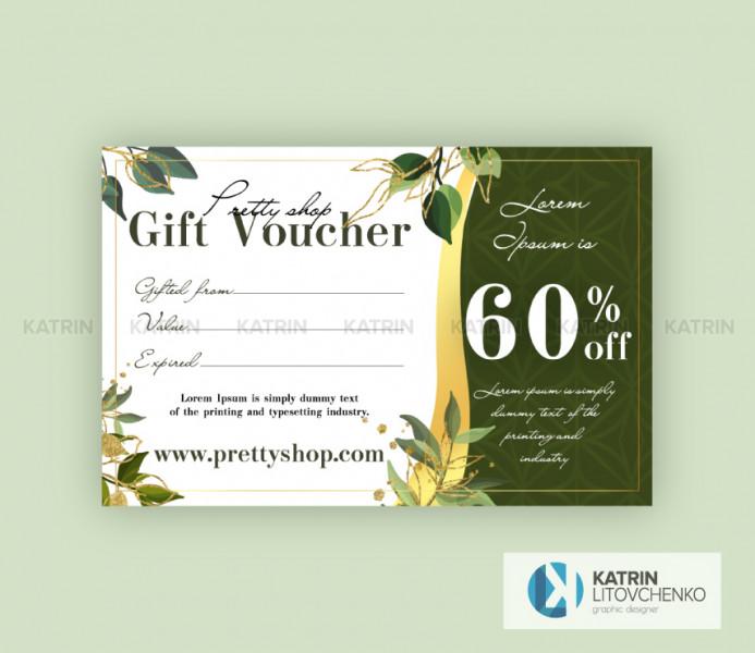 Подарочный сертификат 60%