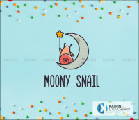 Логотип Moony snail