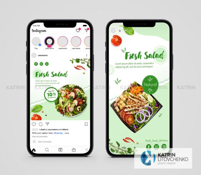 Инстаграм Fresh Salad