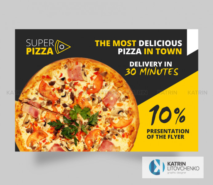 Листовка пицца