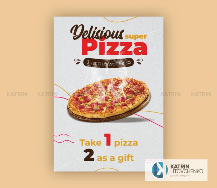 Плакат пицца