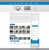 Верстка сайта по ремонту стиральных машин