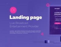 Landing Page. Live broadcast provider