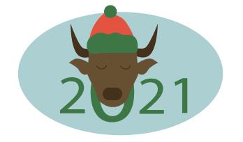 Создать рисунки быков, символа 2021 года, для реализации в м фото f_5425eea00c6a881d.jpg