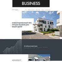 Дизайн сайта для инвестиционного пула