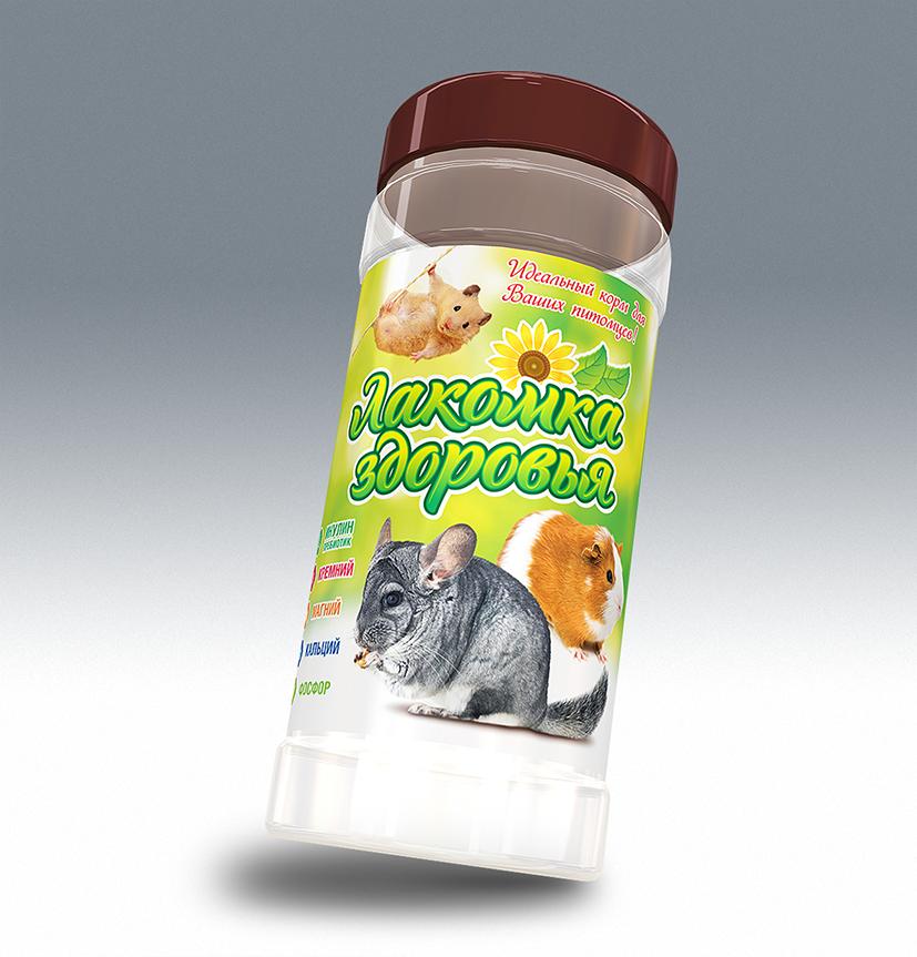 Дизайн этикетки на ПЭТ-банку лакомства для домашних грызунов фото f_97053b4521a95f99.png