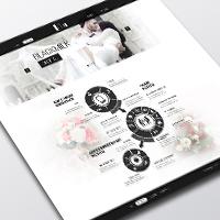 Сайт Визитка Свадебных услуг ''Black Milk''