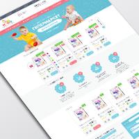 Дизайн интернет-магазина детских товаров