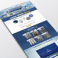 """Landing page фильтров и систем очистки воды """"Аквавит"""""""
