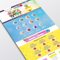 Landing page Для детский праздников