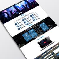 Сайт-визитка музыкальной группы