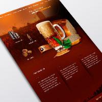 Дизайн сайта компании, производящей квас