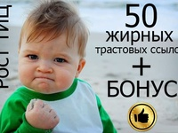 50 жирных вечных ссылок с трастовых сайтов с Высоким ТИЦ