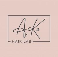 A. Ko Hair Lab - разработка логотипа, визитки, флаера