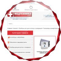 Разработка интернет-магазина медицинской техники и ортопедии МедтехникаПЛЮС