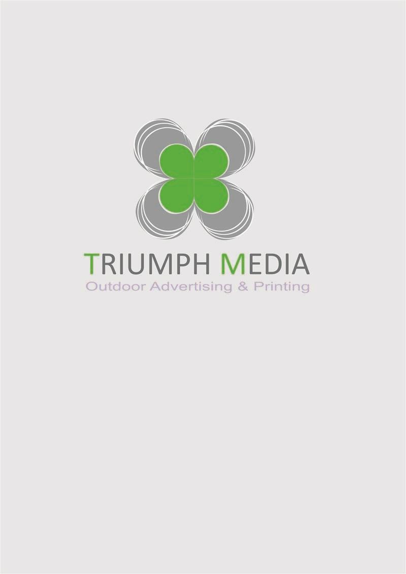 Разработка логотипа  TRIUMPH MEDIA с изображением клевера фото f_507433c58f5de.jpg
