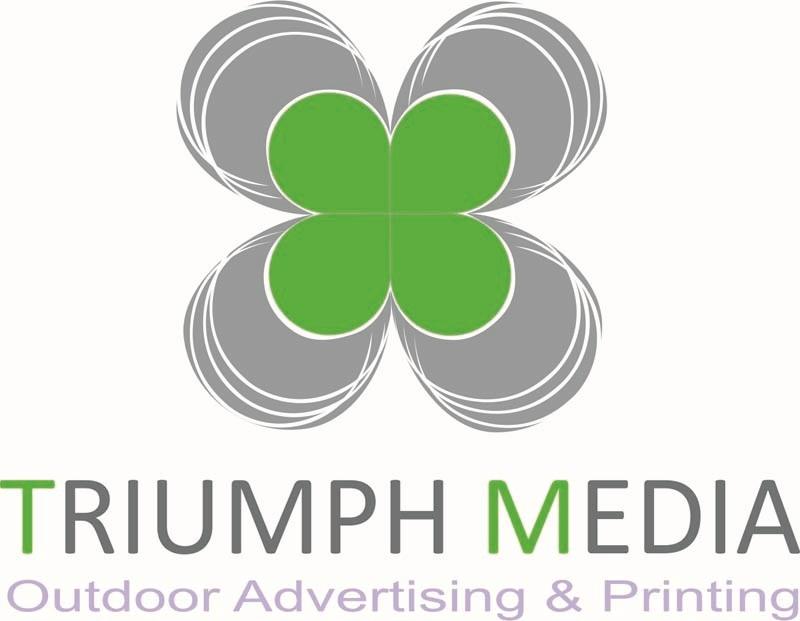 Разработка логотипа  TRIUMPH MEDIA с изображением клевера фото f_5074343636629.jpg